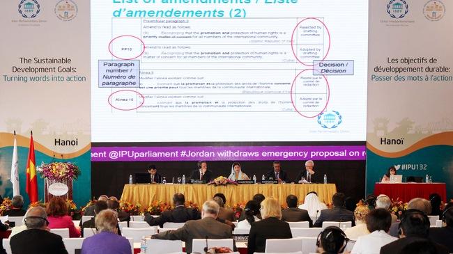 IPU-132: Đại biểu quốc tế đánh giá cao công tác tổ chức của Việt Nam