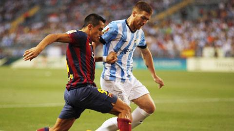 Malaga 0-1 Barca: Barca thắng nhọc nhằn