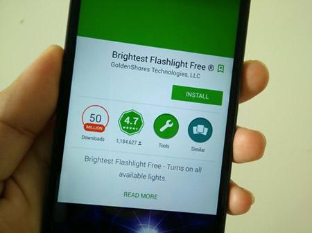 Cẩn trọng với đèn pin smartphone