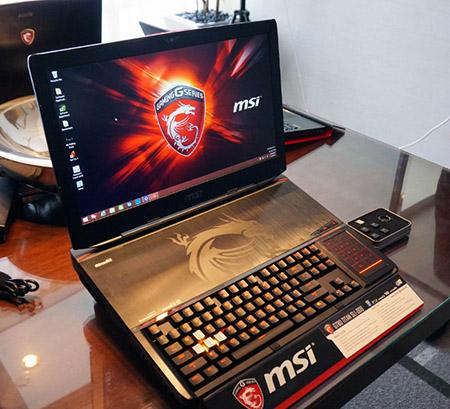 """MSI giới thiệu laptop """"quái vật"""" chơi game, sử dụng phím cơ"""