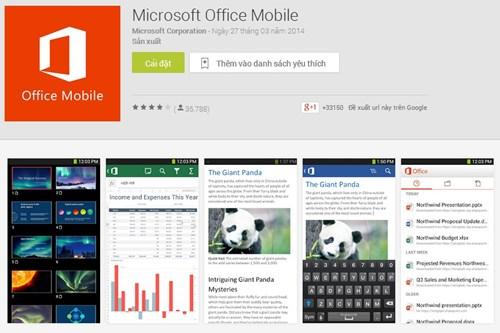 Bất ngờ ứng dụng Office cho Android... miễn phí