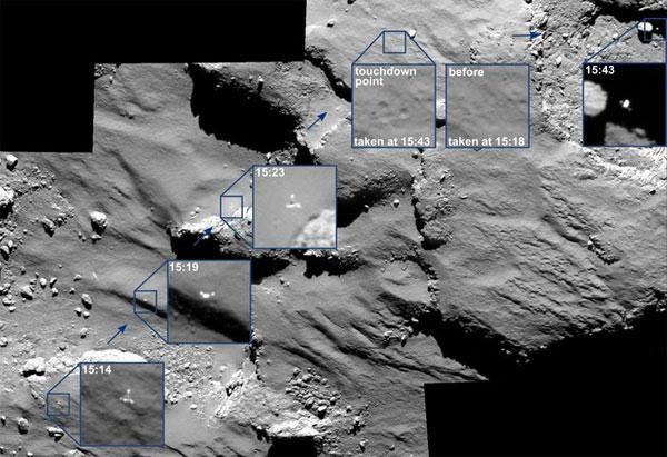 Robot Philae phát hiện dấu hiệu sự sống trên sao chổi