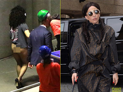 "Lady Gaga ""quên"" mặc quần sau khi biểu diễn"