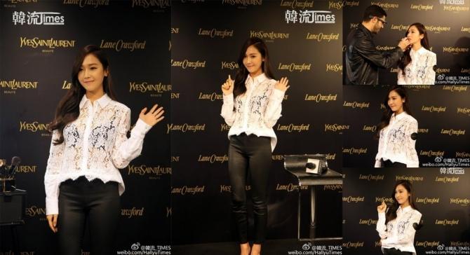 Thành viên cũ SNSD Jessica gây sốc vì diện áo xuyên thấu