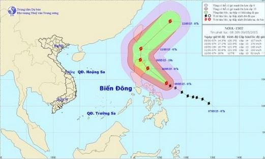 Tin bão mới nhất: Bão Noul giật cấp 17 hướng vào Biển Đông